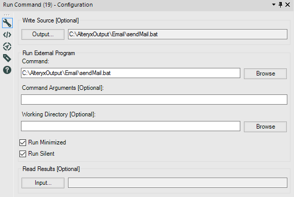 Solved: Run a batch file from Run Command tool - Alteryx