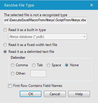 Call VBA macro from Alteryx - Alteryx Community