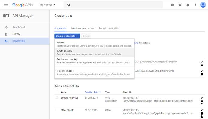 API Google créer des informations d'identification .png