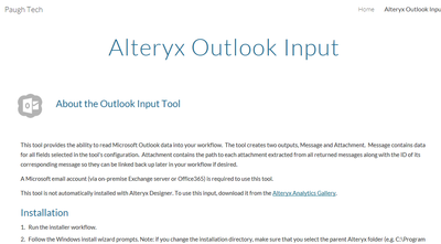 Outlook Input tool Created with the Alteryx SDK - Page 2 - Alteryx