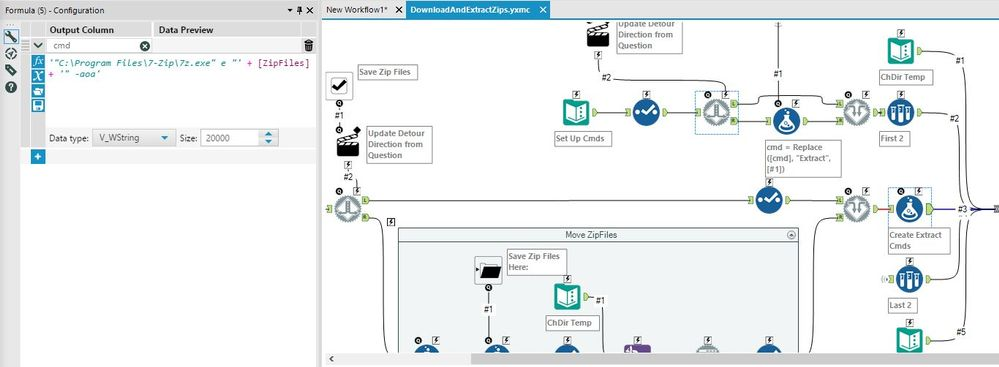 Solved: Can Alteryx unzip a file as part of the workflow