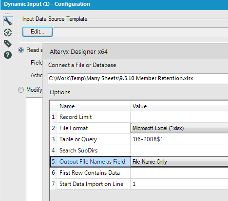 Solved directory to dynamic input losing the filename do for Dynamic configuration tool