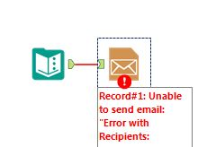 Solved: Recipients error: sending email with the Email Too