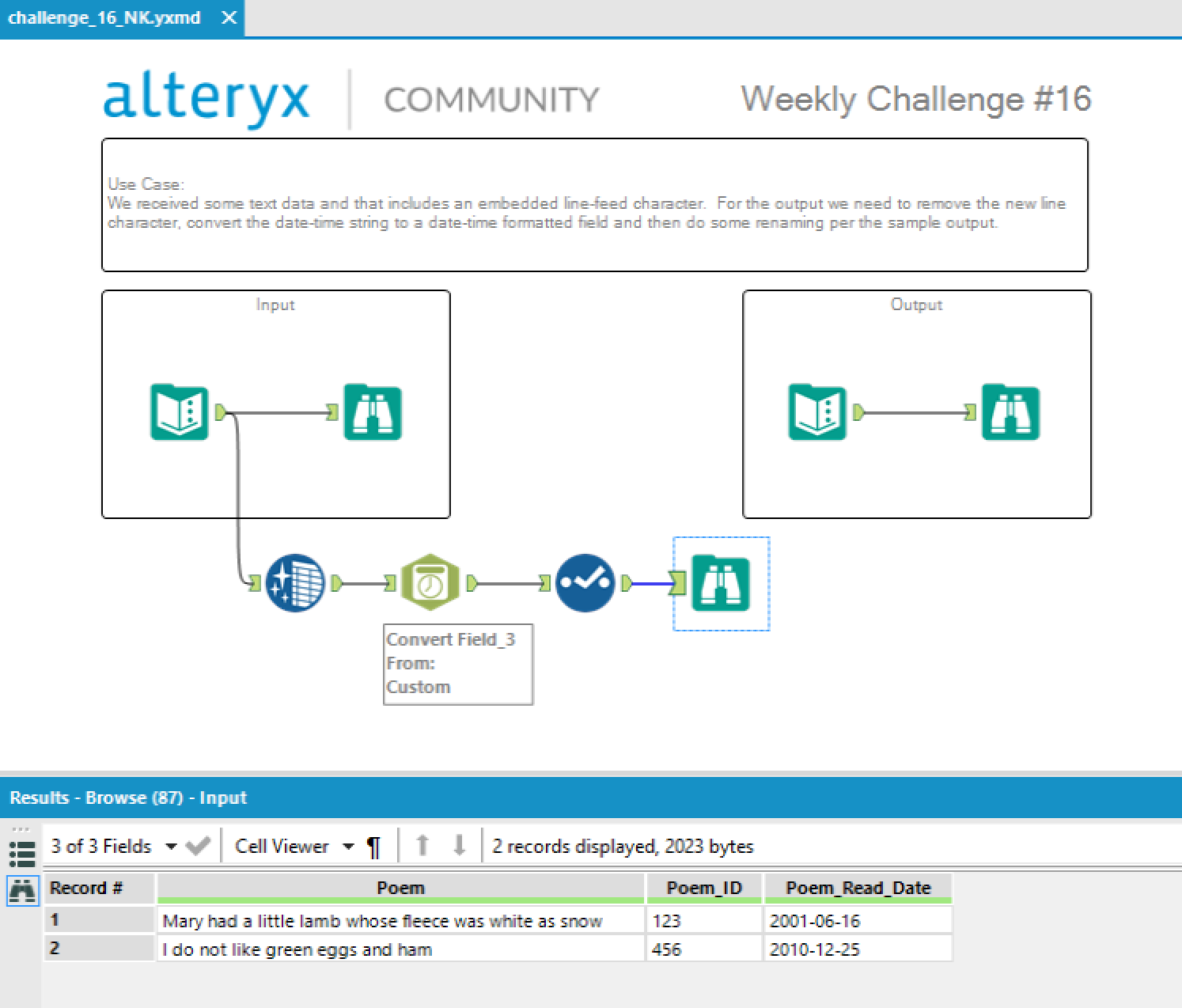 Challenge #16: Parsing Out the New-line Character - Alteryx