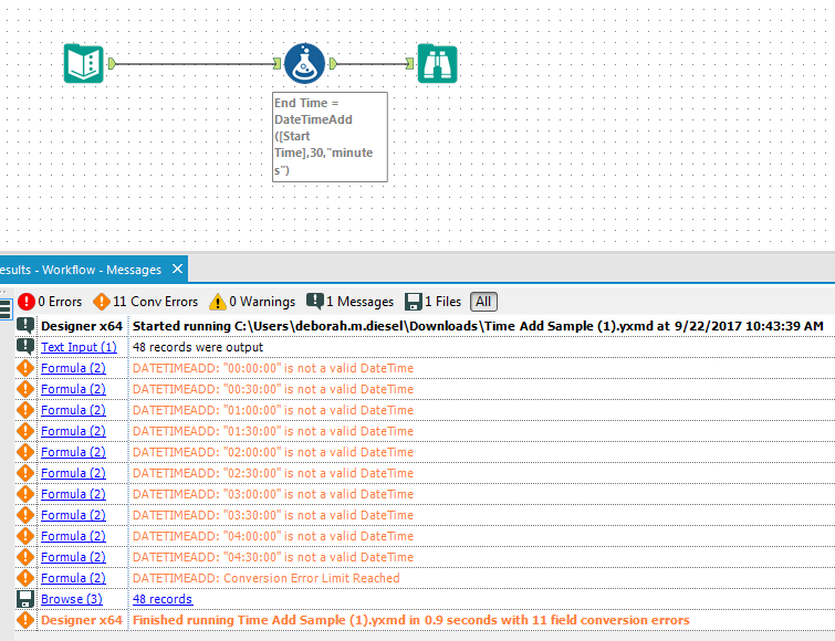 Solved: How to add or subtract minutes from a time? - Alteryx Community
