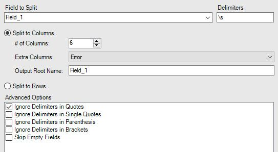Logic to Split a text [ csv] file into multiple ta