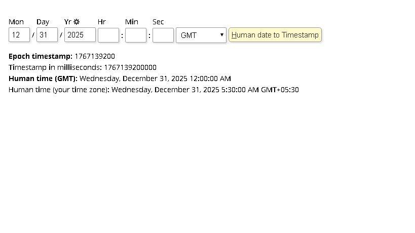 Solved: JDE Julian Date Converter to Timestamp in millisec