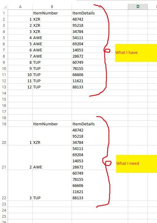 Solved: Concatenate rows into one row by value of a column