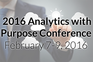 2016 Analytics with Purpose Conference