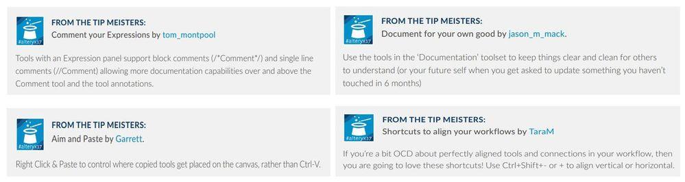 Tips and Tricks - Workflow Design - Alteryx Community