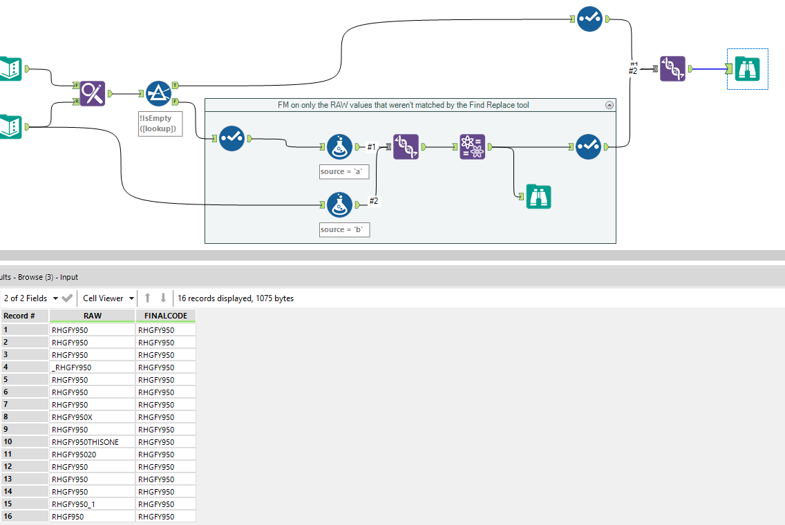 Solved: Fuzzy Match Against a Lookup - Help - Alteryx Community