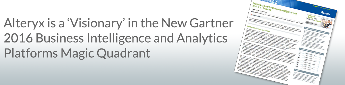 Gartner 2016 Business Intelligence and Analytics Platforms