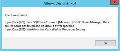 Solved: Teradata ODBC Driver SQLDriverConnect - Alteryx Community