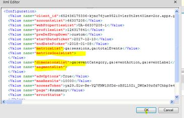 Manually edit XML file - metrics, goals, segments
