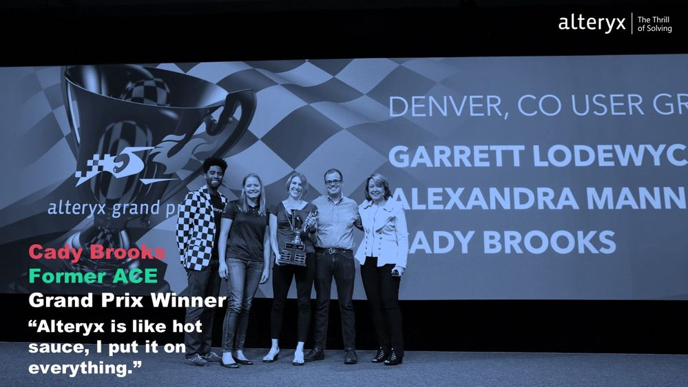Alteryx Grand Prix US 2018 (Pictured from right to left: Corey Hill, Cady Brooks, Alexandra Mannerings, and Garret Lodewyck, and Myself)
