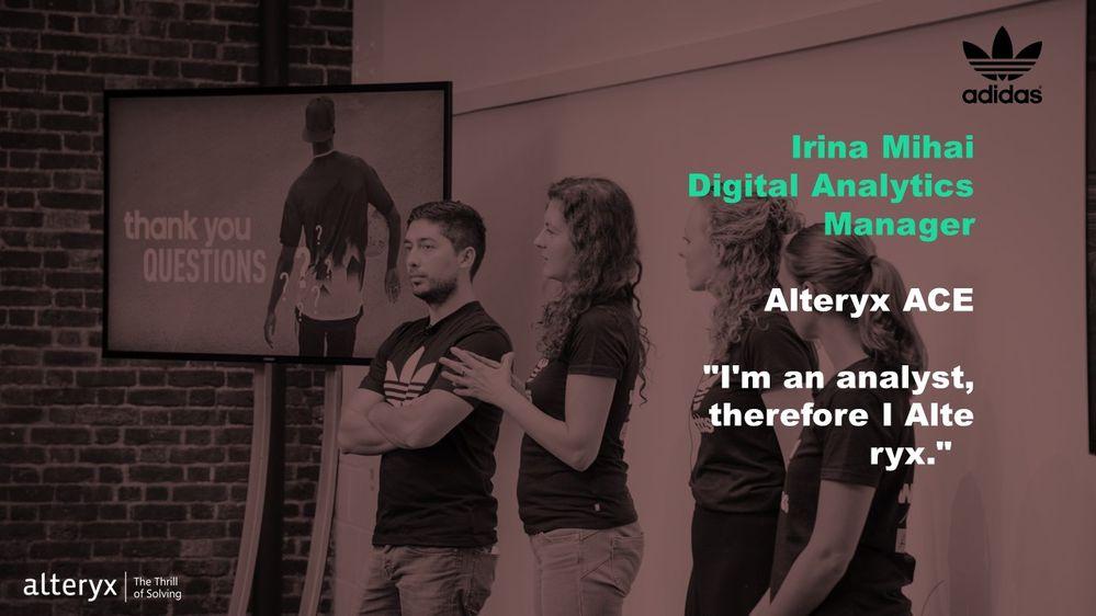 Alteryx ACE Irina Mihai and her team at Inspire Europe 2017