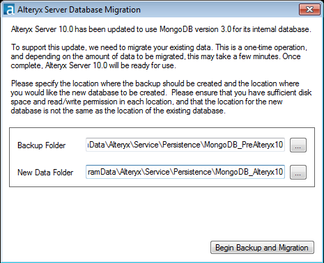 AlteryxService fails to start after upgrade from Alteryx Server 9 5