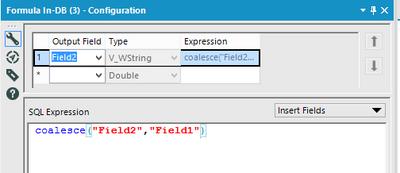 In-database Coalesce formula for Postgres using Gr