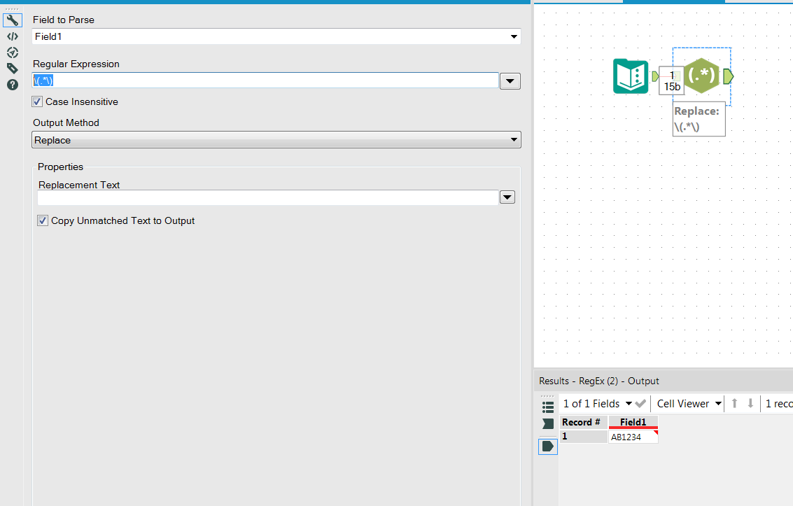 Solved: Regex to remove characters inbetween ( ) - Alteryx