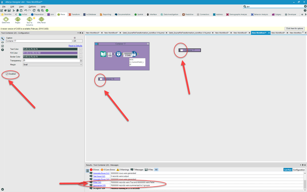 Solved: Defect: 2018 1 4 Disable Container - Alteryx Community