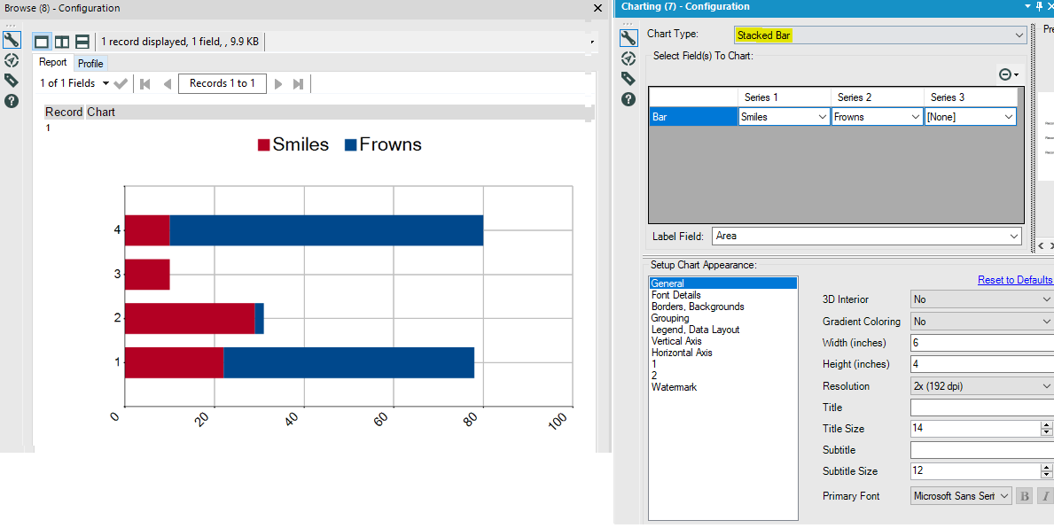 Solved: Data prep for first stacked bar chart - Alteryx