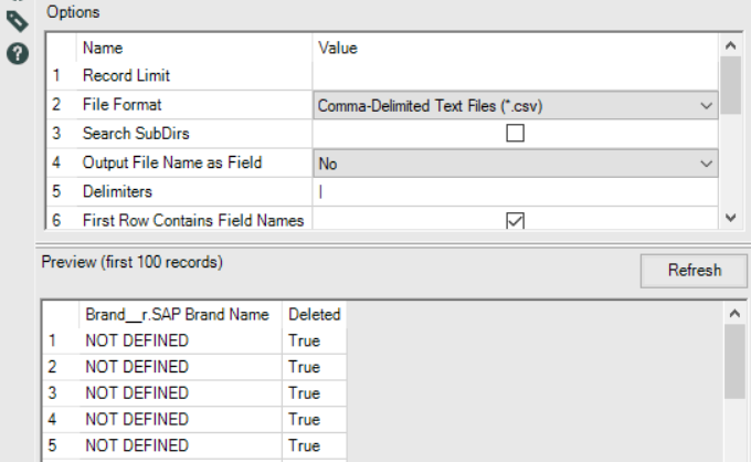 Solved: Error opening path filename: no fields found csv f