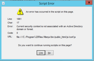 Solved: Alteryx Gallery AD Authentication Error - Alteryx