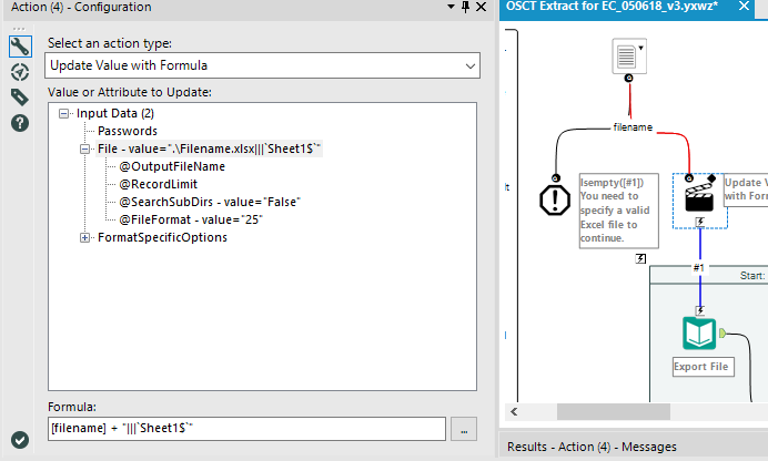 Input Data with Action tool in Gallery analytic ap    - Alteryx