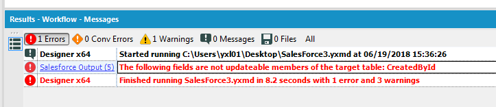 Solved: SalesForce help - output tool error - Alteryx Community
