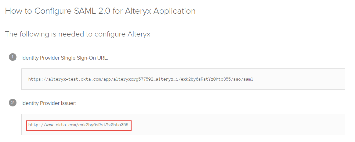 Configuring SAML on Alteryx Server for Okta - Alteryx Community
