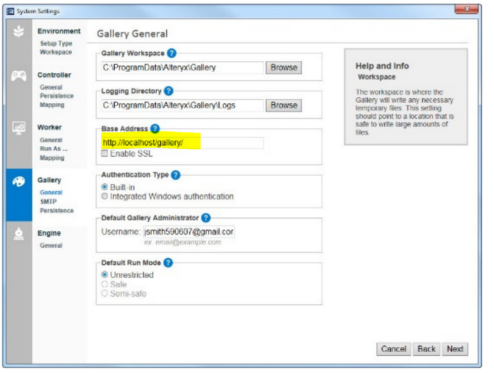 Solved: Update URL for the Alteryx Gallery - Alteryx Community