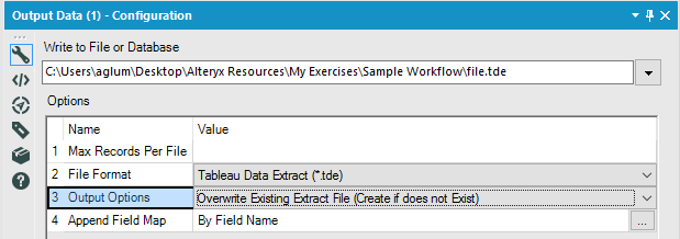 Solved: How to save the output results to  tde file format - Alteryx
