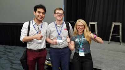 Pictured (L-R): Royden Onishi, Ryan Andrew and Tasha Alfano (Product Manager for Alteryx Developer Tools)