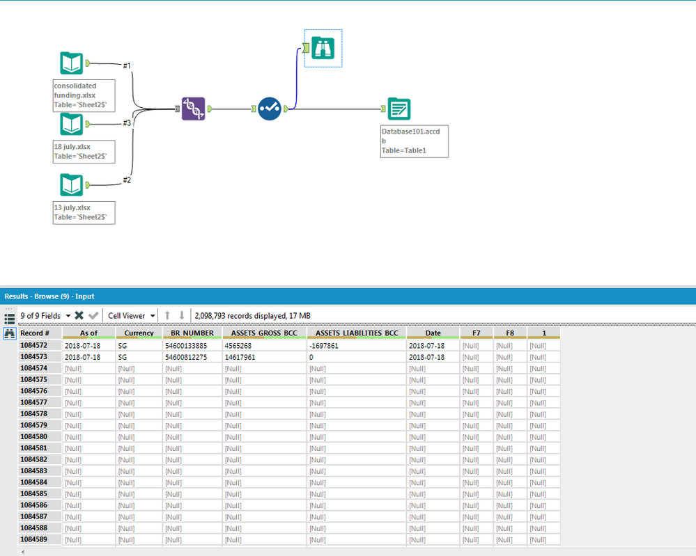 Solved: Removing [Null] rows in output data - Alteryx Community