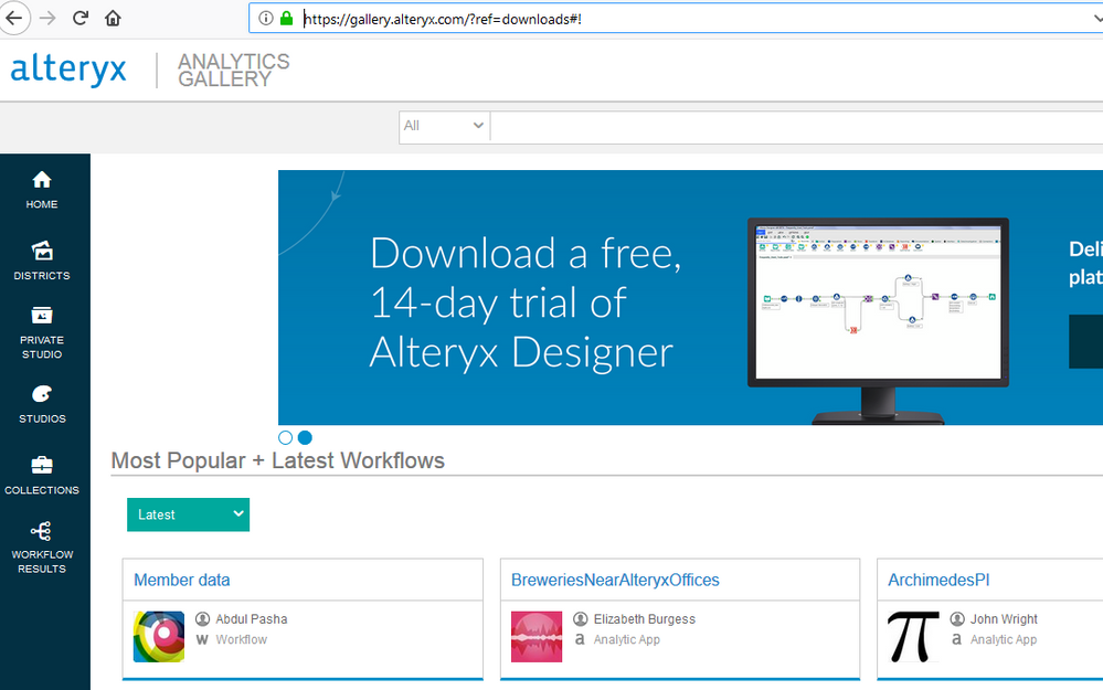Solved: CASS Download not present at new download site - Alteryx
