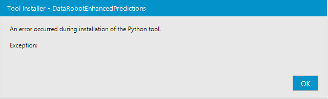 Python tool install fails due to long pathnames - Alteryx