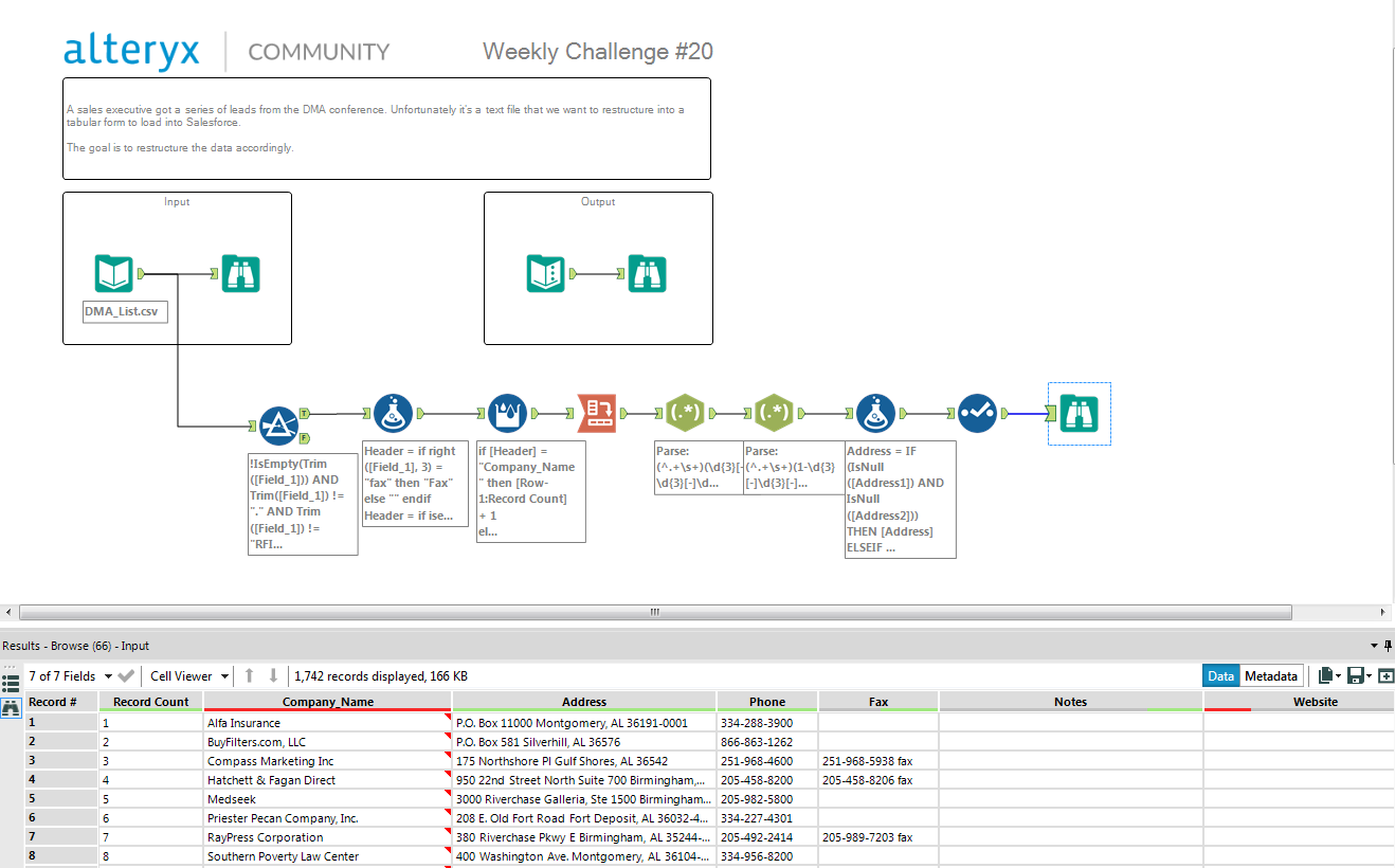 Challenge #20: List Parsing - Alteryx Community