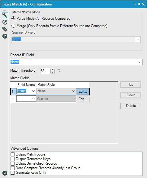Solved: Fuzzy Match and Replace Close Matching User Names - Alteryx