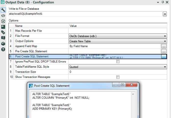 Sql create table with primary key - Alter table add constraint primary key ...