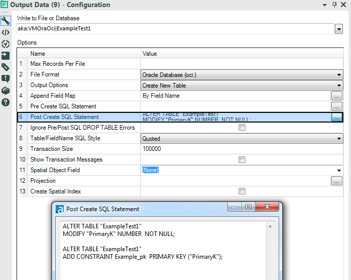 Create Database Table Primary Key in Alteryx - Alteryx