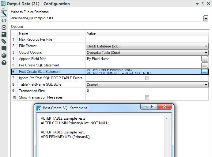 Create Database Table Primary Key In Alteryx Alteryx