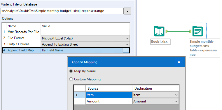 Output excel data to an existing excel template  - Alteryx