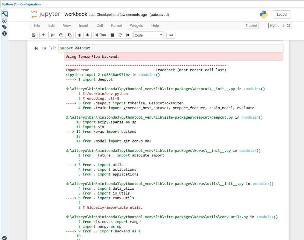 Solved: Python Tool : How to install additional package fr