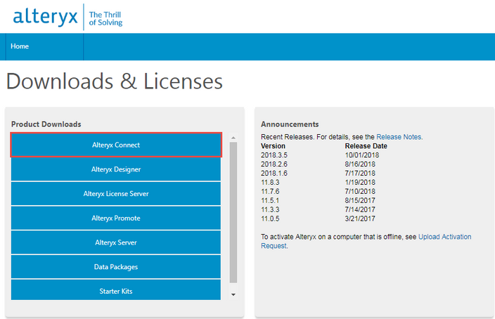 Installing and Licensing Connect - Alteryx Community