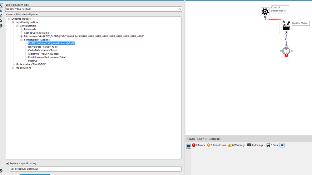 Dynamic Input tool - Oracle Stored Procedures - Alteryx
