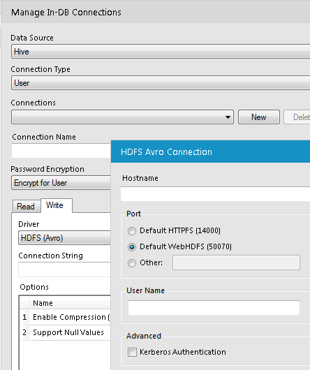 Manage In-DB Connections
