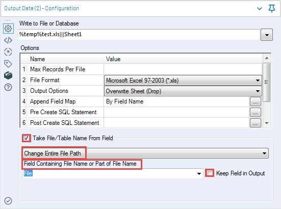 Output to separate Excel files - Alteryx Community sortie de données