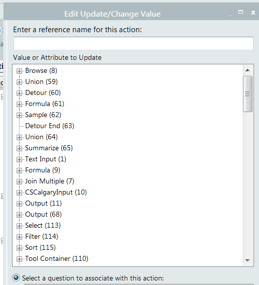 what is the sort order for the tool list in the ac alteryx