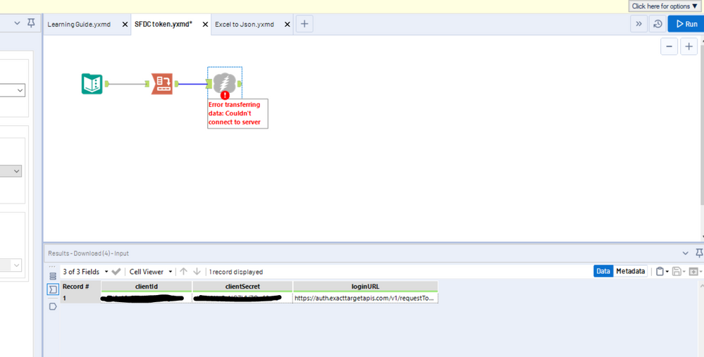 Solved: Not able to connect salesforce marketing cloud usi