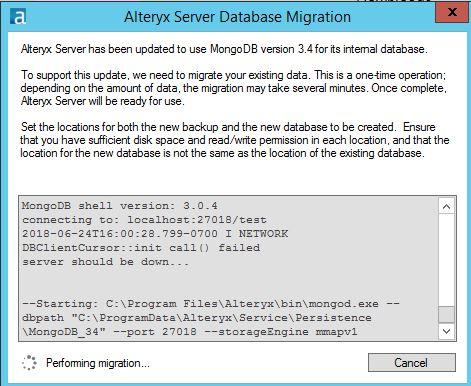 Troubleshooting a Failed MongoDB Migration - Alteryx Community